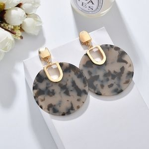 Faux Tortoise Shell Earrings